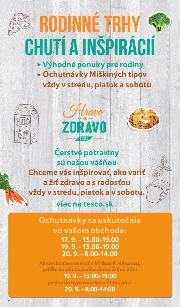 09525e951 Leták Tesco leták - Žilina, 17. 9. - 23. 9. 2014