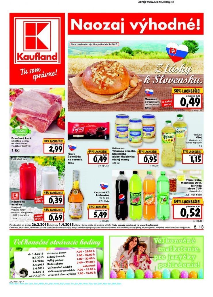 Kaufland leták - aktuálne akciové letáky | Vašekupóny.sk